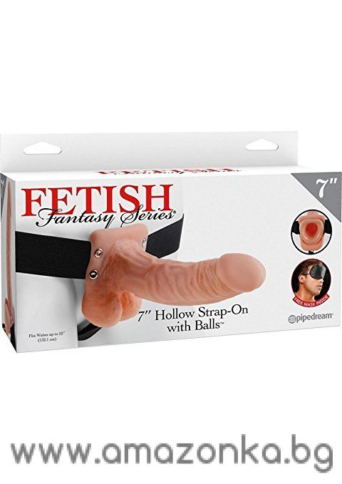 Fetish Fantasy 7 Hollow Strap On With Balls Flesh Inches