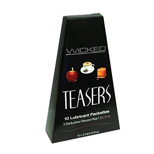 Wicked Teasers 10 Lubricant Packettes 3 Seductive Flavors