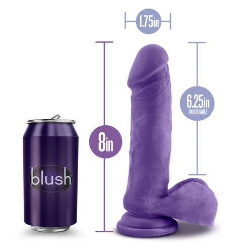 AU NATUREL BOLD HERO 8INCH DILDO PURPLE