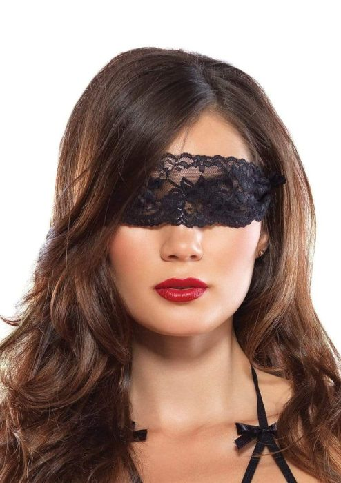 Crotchless teddy & blindfold Leg Avenue
